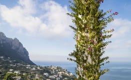 Остров Капри - белые колоннады Стоковое Фото