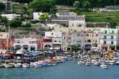 Остров Капри, Италия, Европа, залив Неаполь, Стоковая Фотография