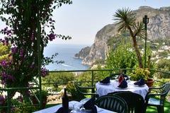 Остров Капри, Италия, Европа, залив Неаполь, Стоковое Изображение RF