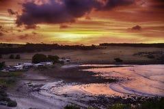 Остров кенгуру, гладит рукой залива Стоковая Фотография
