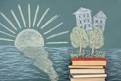 Остров книги иллюстрация штока