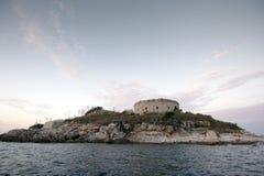 Остров крепости Mamula, вход к заливу Boka Kotorska, Черногории Стоковая Фотография RF