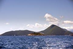 Остров крепости Mamula, вход к заливу Boka Kotorska, Черногории Стоковое Изображение RF