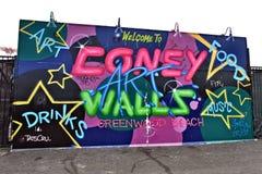 Остров кролика Нью-Йорк парка убежища искусства граффити Стоковая Фотография RF