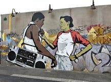 Остров кролика Нью-Йорк парка убежища искусства граффити Стоковые Изображения