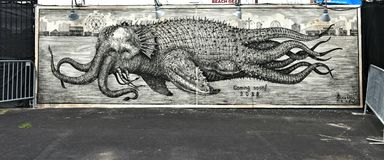 Остров кролика Нью-Йорк парка убежища искусства граффити Стоковое Изображение