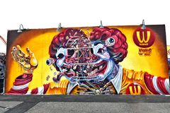 Остров кролика Нью-Йорк парка убежища искусства граффити Стоковые Фото