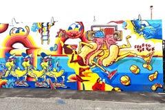 Остров кролика Нью-Йорк парка убежища искусства граффити Стоковая Фотография