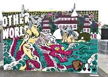 Остров кролика Нью-Йорк парка убежища искусства граффити Стоковое Фото