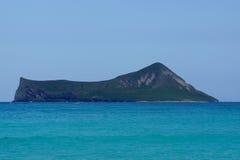Остров кролика, Manana, в заливе Waimanalo Стоковая Фотография