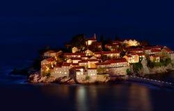 Остров-курорт Sveti Stefan стоковые изображения rf