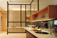Остров кухни стоковая фотография rf