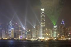 Остров к ноча, Гонконг Гонконга, Китай Стоковая Фотография RF