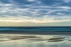 Остров Левиса, Шотландии, абстракции над seascapes через долгую выдержку стоковое изображение rf