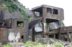 Остров линкора Gunkanjima в Нагасаки Японии Стоковые Фотографии RF