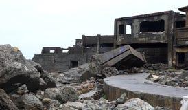 Остров линкора Gunkanjima в Нагасаки Японии Стоковые Фото
