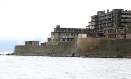 Остров линкора Gunkanjima в Нагасаки Японии Стоковое Изображение