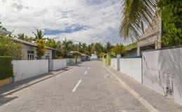 Остров Мальдивы атолла Raa Meedhoo улиц стоковое фото