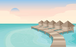 Остров Мальдивы рая стоковое изображение
