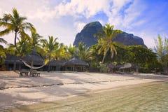 Остров медового месяца o тропический Маврикия Стоковые Фото