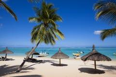 Остров медового месяца o тропический Маврикия Стоковое фото RF