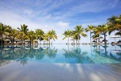 Остров медового месяца o тропический Маврикия Стоковое Фото