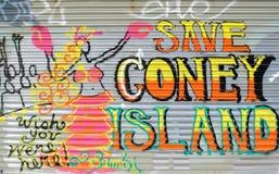 остров надписи на стенах coney стоковое фото