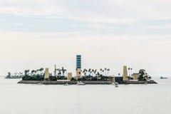 Остров на Лонг-Бич, Лос-Анджелесе стоковое фото