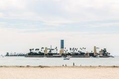 Остров на Лонг-Бич, Лос-Анджелесе стоковые фотографии rf