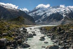 Остров Новая Зеландия Mt.cook южный Стоковое Фото
