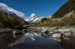 Остров Новая Зеландия Mt.cook южный Стоковые Фотографии RF
