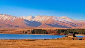 Остров Новая Зеландия Tekapo озера южный стоковые фото