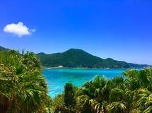 Остров Окинава Япония взгляда Tokashiki aharen пляж стоковая фотография rf