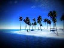 Остров пальмы Стоковая Фотография