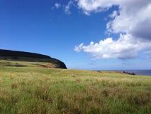 Остров пасхи ландшафта Стоковые Фотографии RF