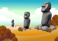 остров пасхи Стоковое Изображение