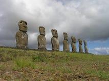 остров пасхи akivi ahu Стоковая Фотография