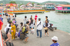 Остров Паттайя 17-ое декабря 2014 Larn, Таиланд Стоковые Изображения RF
