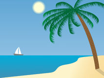 остров пляжа Стоковое Изображение