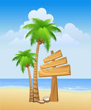 остров пляжа Стоковые Изображения