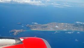 Остров Порту Santo, Португалии, взгляда от воздушных судн Стоковая Фотография