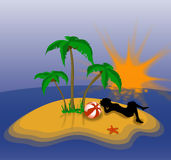 остров праздника сиротливый Стоковое Фото