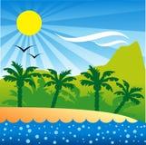 остров предпосылки тропический Стоковая Фотография