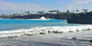 Остров пляжа Mauna Lani большой Гаваи Стоковое Изображение RF