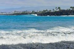 Остров пляжа Mauna Lani большой Гаваи Стоковое фото RF