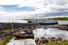 Остров пляжа Zayatsky, архипелаг Solovetsky Стоковые Фотографии RF