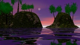 остров рассвета тропический Стоковые Изображения RF