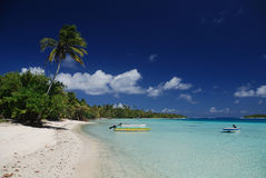 Остров рая †Maupiti «Французской Полинезии Стоковая Фотография RF