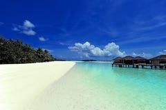 Остров рая Мальдивов Стоковые Фото