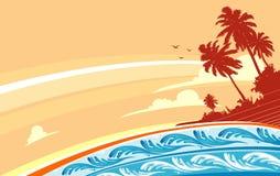 Остров рая тропический Стоковая Фотография RF